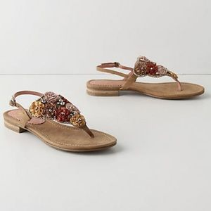 Anthropologie Floral sandals, size 7, used